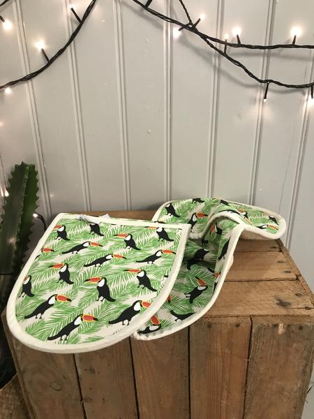 Fenella Smith Toucan Double Oven Glove