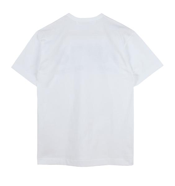 Comme Des Garcons Play White With Upside Down Logo Print Play T Shirt