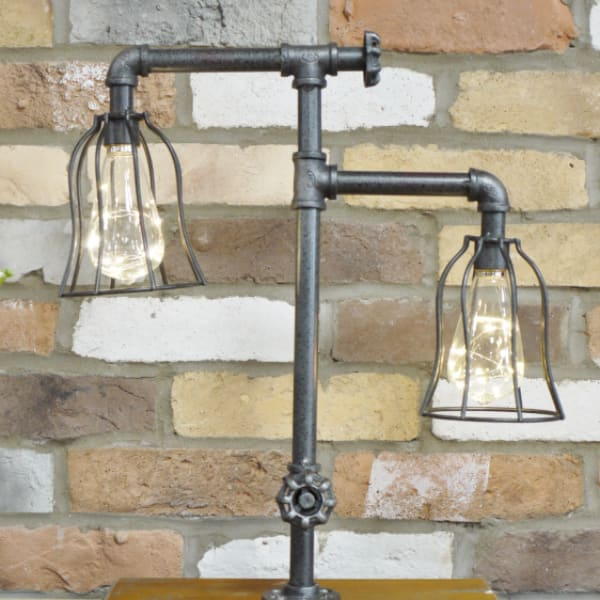 Persora Battery Operated Industrial Pipework Table Lamp