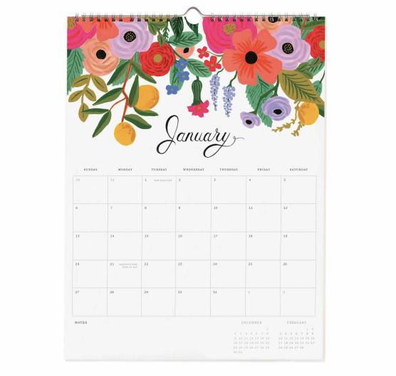 Rifle Paper Co. Paper 2019 Wall Calendar