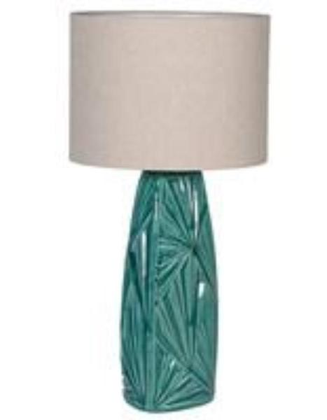 The Forest & Co. Green Palm Table Lamp