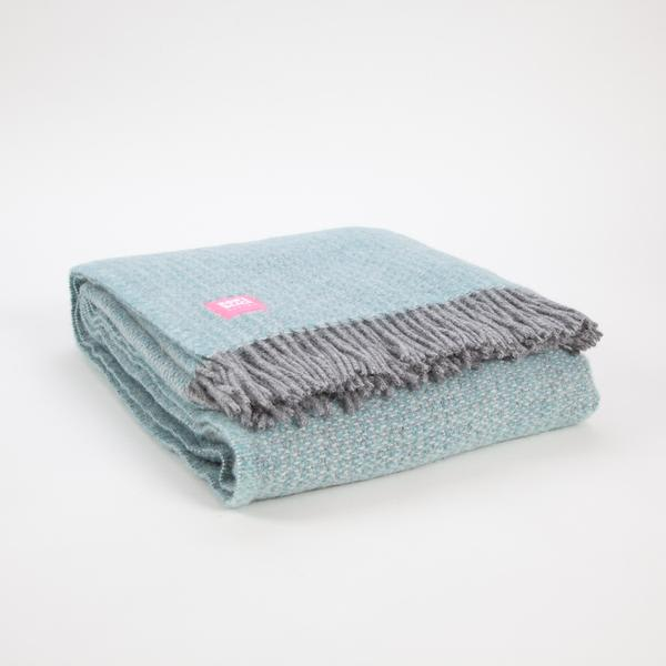 Tweedmill Textiles Spearmint Grey Pure Illusion Wool Throw