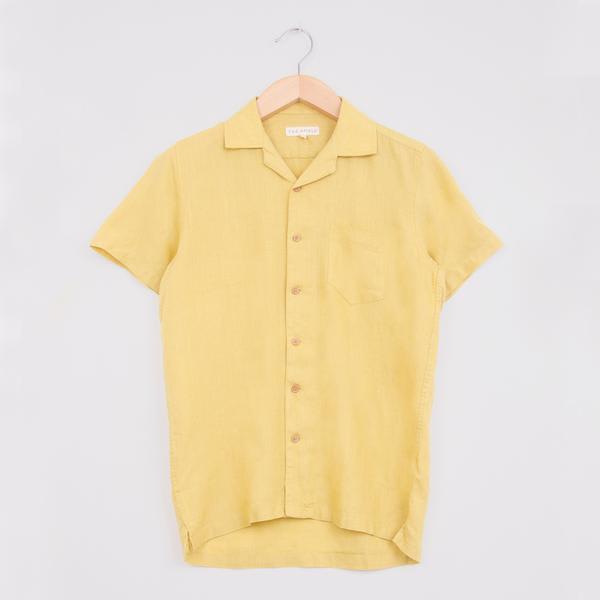 Far Afield Olivenite Linen Stachio S S Shirt