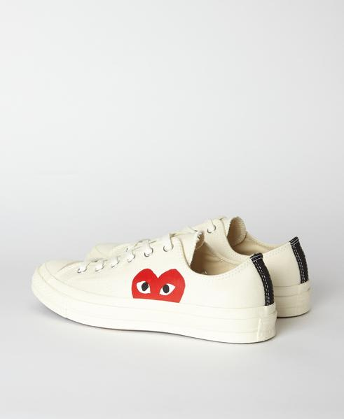 Comme Des Garcons Play White PLAY x Converse 70s Chuck Taylor All Star Low Shoe