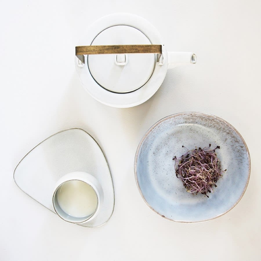 HK Living Kyoto Ceramics White Teapot