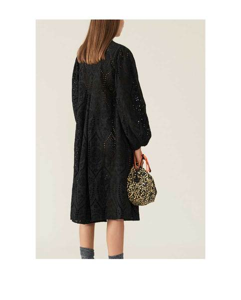 Ganni Broderie Anglaise Dress Black