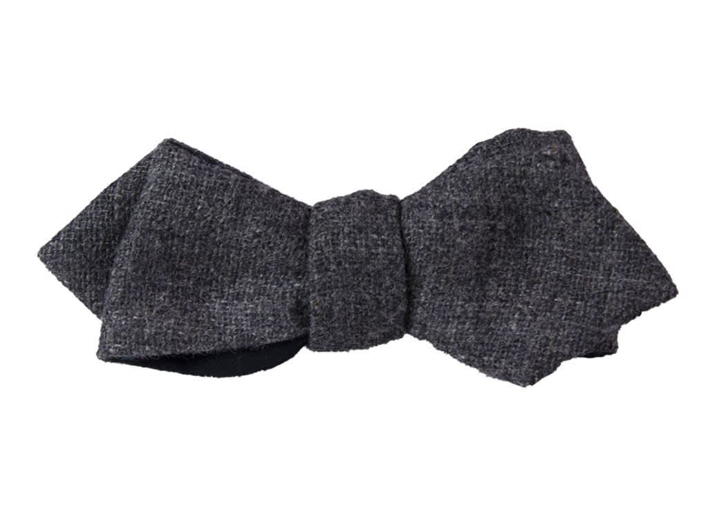 40 Colori Grey Wool Spencer Bow Tie