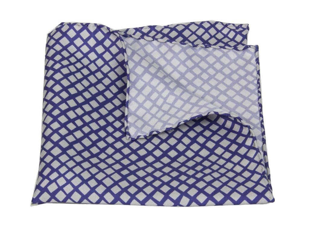 40 Colori Square Net Printed Silk Pocket Square