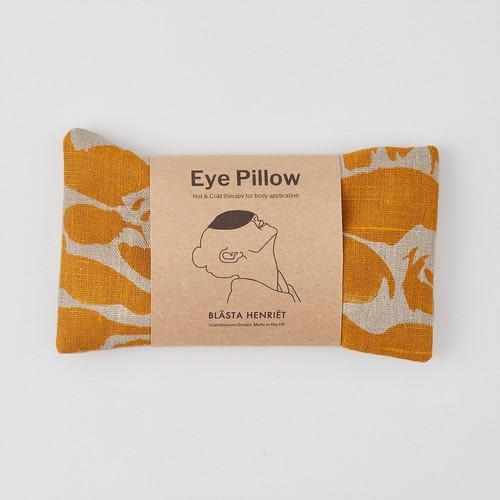 Blasta Henriet Creatures Yellow Linen Wheat Bag Eye Pillow