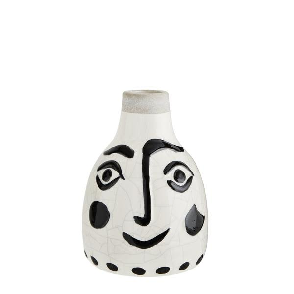 Madam Stoltz Painted Face Vase
