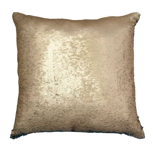 Bahne Cushion Square With Sequins Reversible in Gold and Black