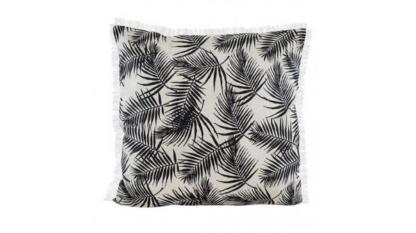 Raine And Humble Black Palm Fringe Cushion