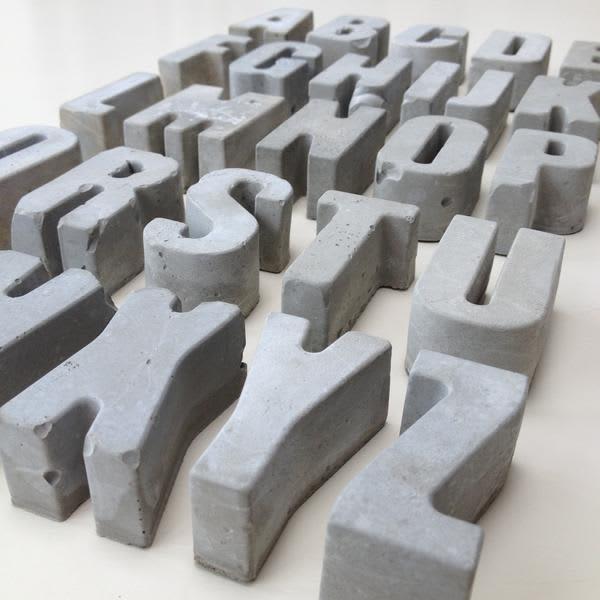MOXON LONDON Concrete Letters Numbers