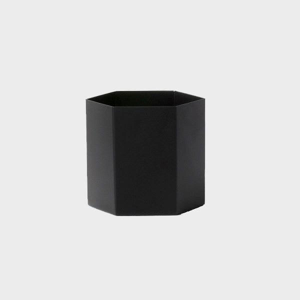 Ferm Living Large  Black Hexagon Vase