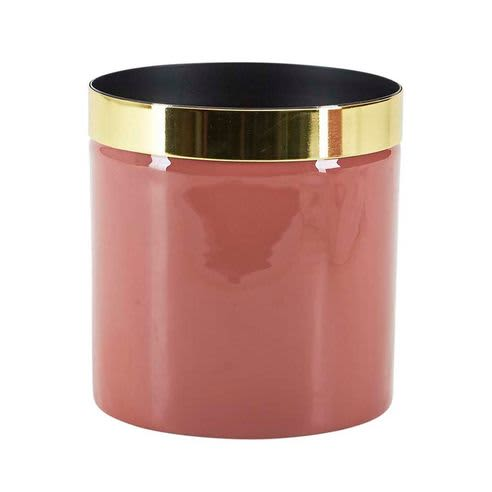 Bahne BH Small Metal Pot in Peachy Pink and Gold