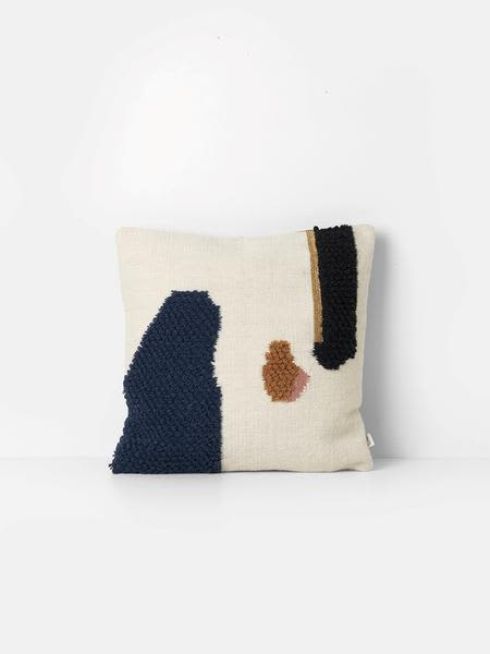 Ferm Living Loop Cushion Mount In Cream Navy