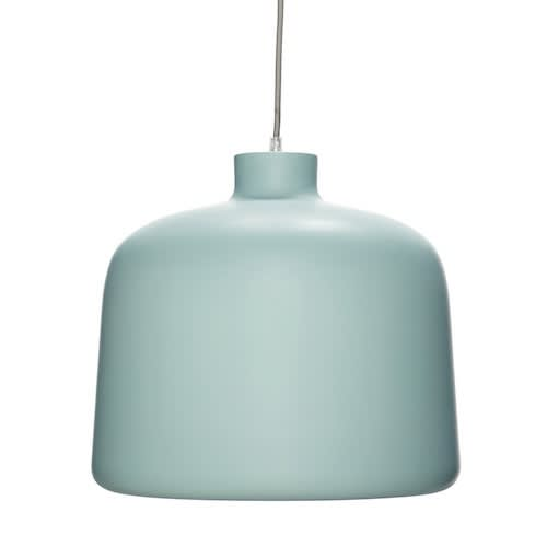Hubsch Large Green White Ceiling Lamp