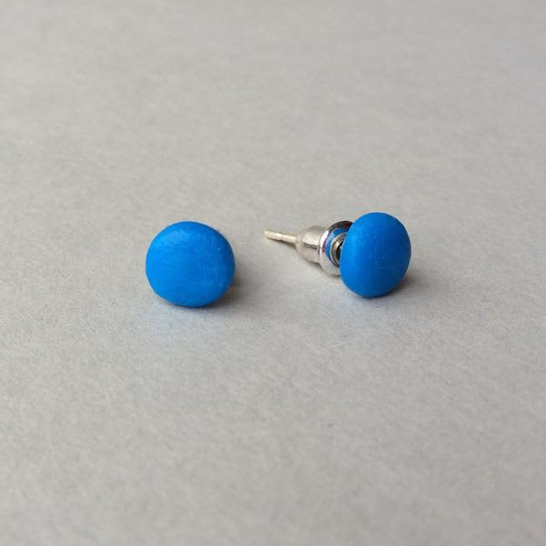 Claudia Made This Electric Blue Dot Stud Earrings