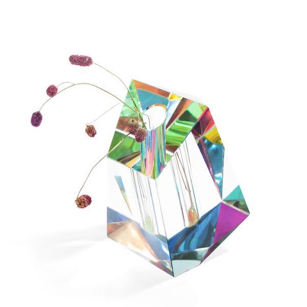 Fundamental.Berlin Irregular Regenbogen Crystal Vase