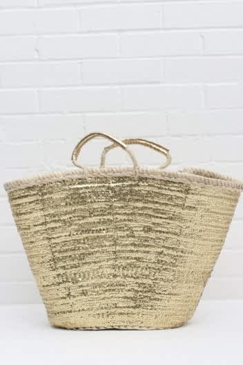Bohemia Gold Sequin Basket