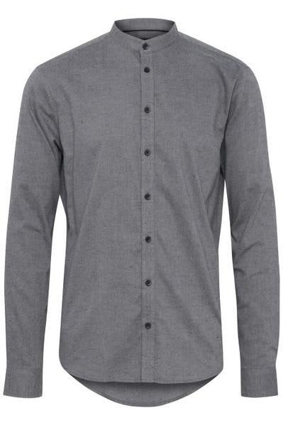 Casual Friday Grey Mandarin Collar Shirt