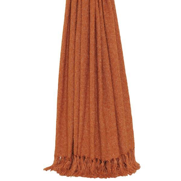 Persora Auriella Burnt Orange Lightweight Throw Blanket