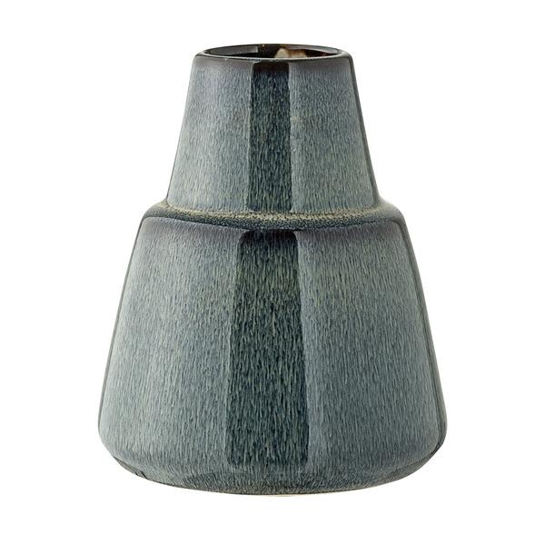 Bloomingville Short Blue Stoneware Vase