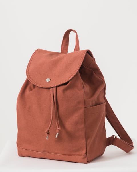 Baggu Terracotta Drawstring Backpack