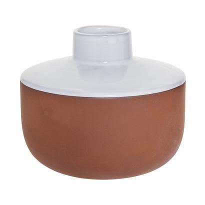 Bloomingville White Glaze Terracotta Vase