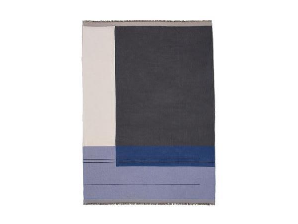 Ferm Living Blue Colour Block Throw