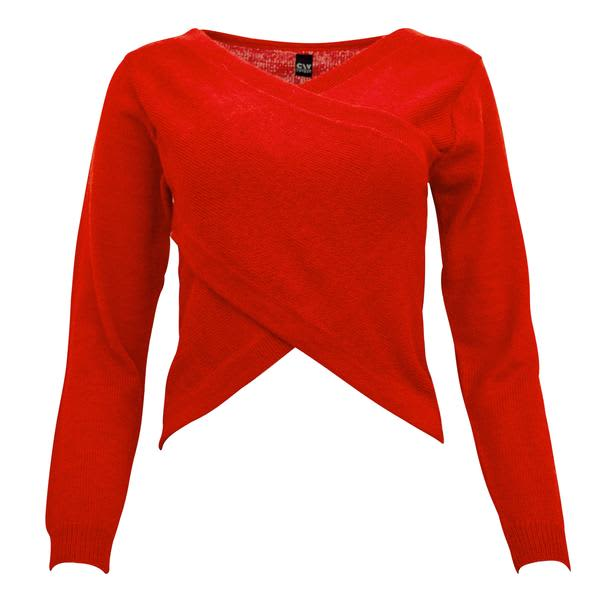 Corvera Vargas Alpaca Knit Crossover Red