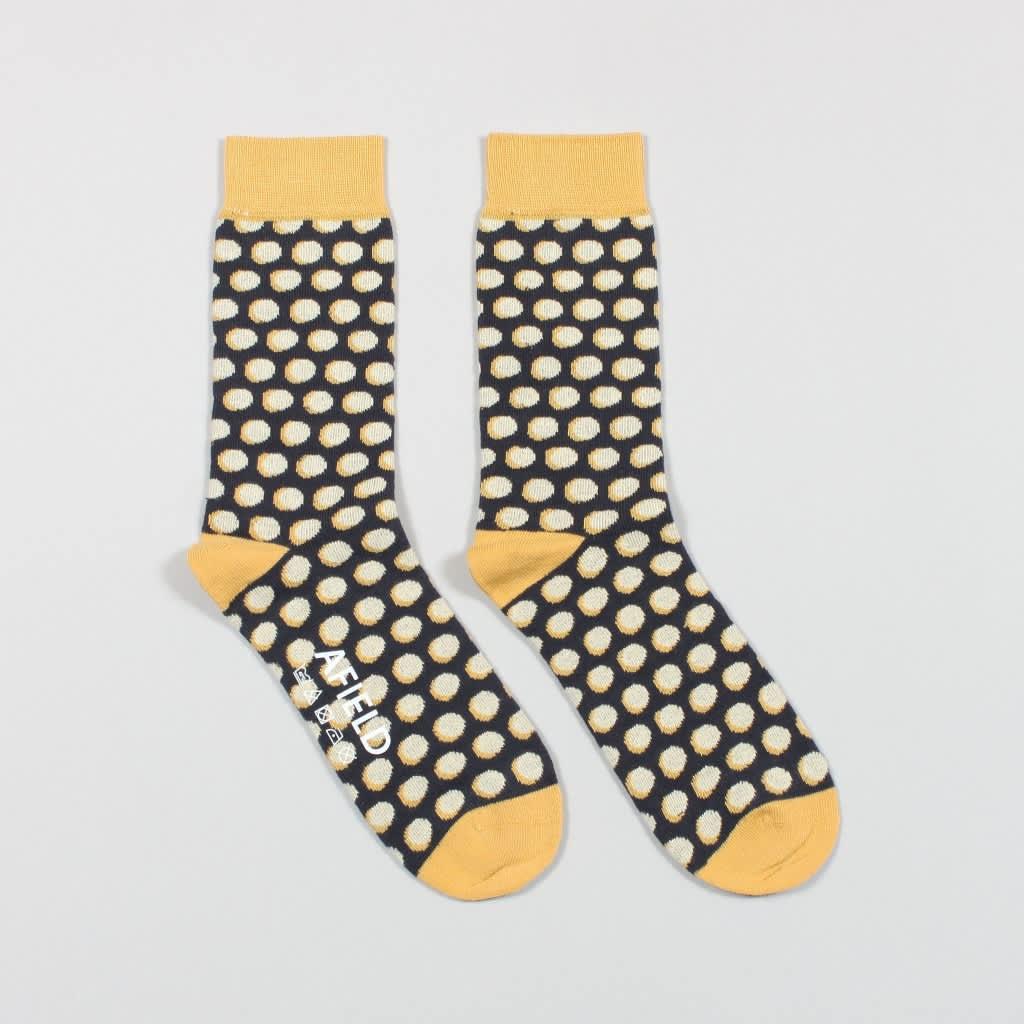 Far Afield Yellow Double Polka Socks