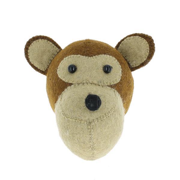 Fiona Walker England Monkey Mini Decorative Animal Head