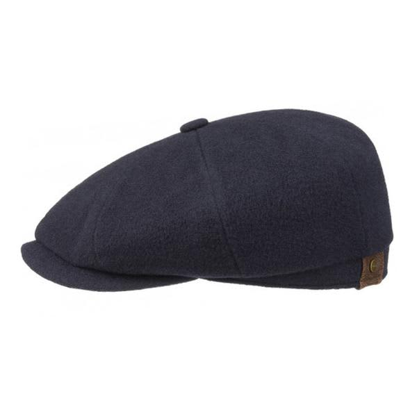 094984fe Trouva: Hatteras Navy Wool Cashmere Newsboy Cap