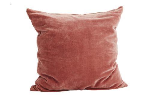 Madam Stoltz Blush Velvet Cushion