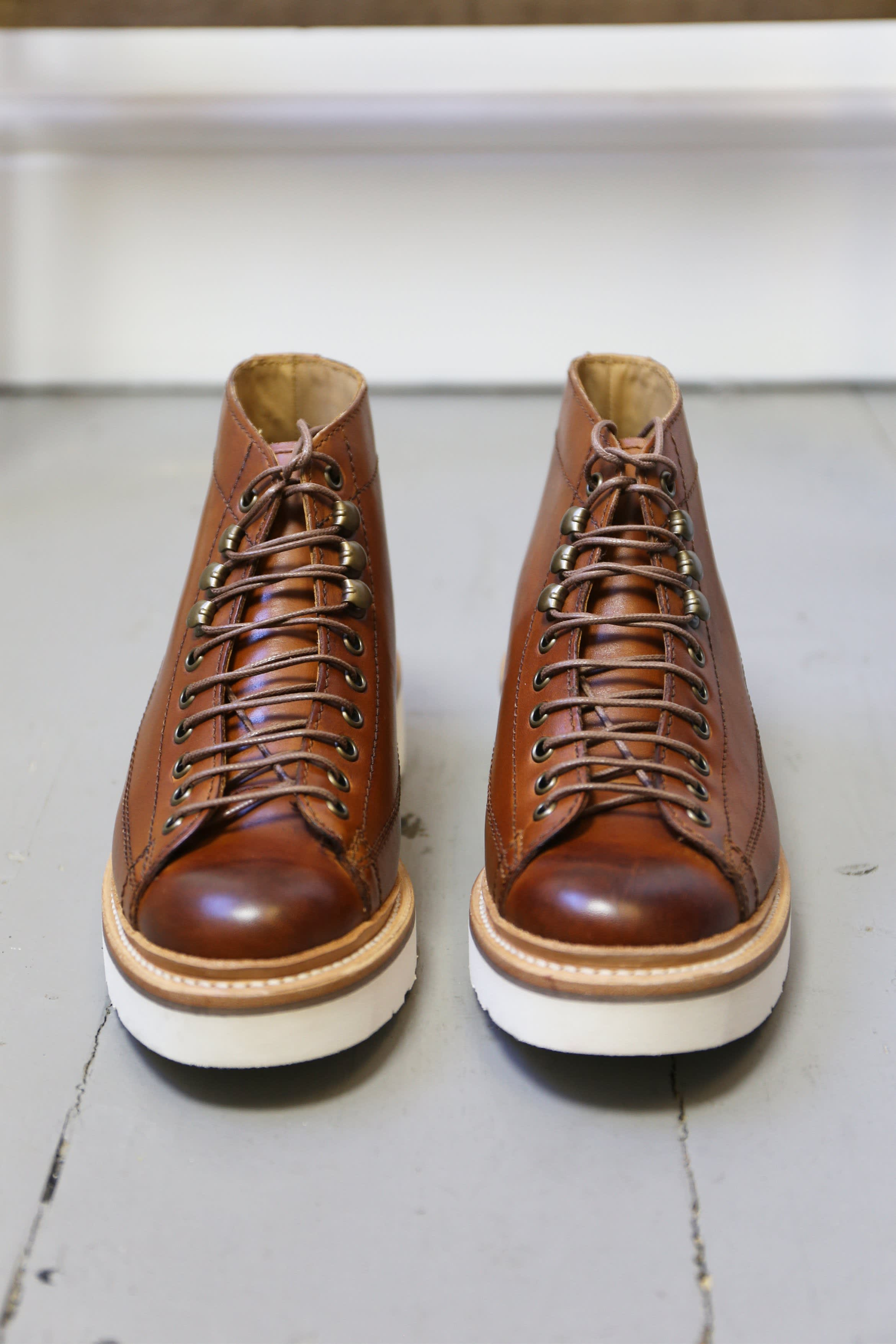 Grenson Annie Hand Painted Tan Monkey Boots