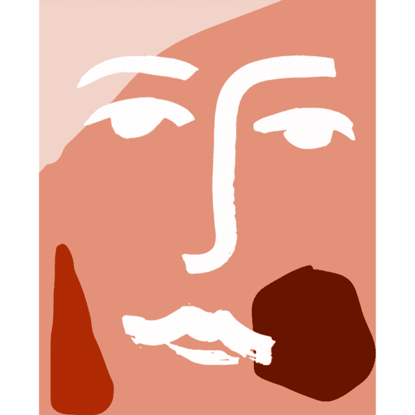 James Wilson A3 Face Print In Peach Red