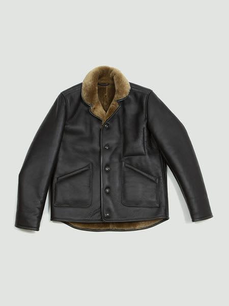 YMC Brown Brainticket Leather Jacket