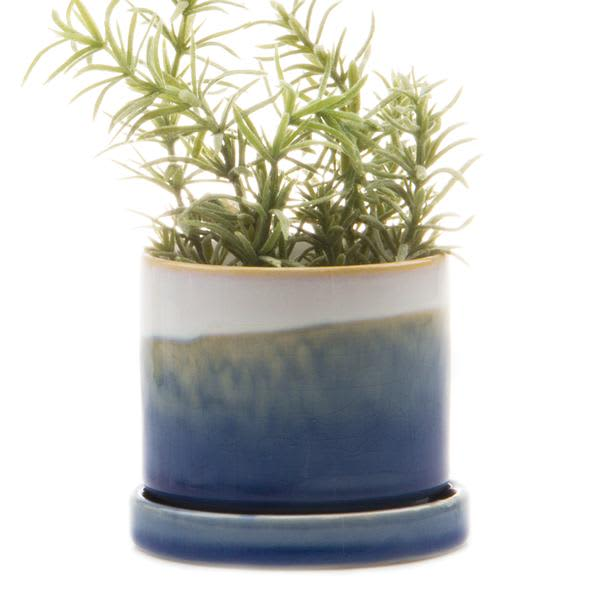 Home & Garden Chive Minute Blue Layers Plant Pot And Saucer