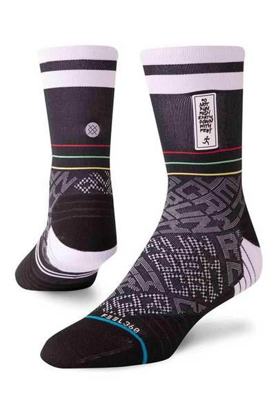Stance Black Run Dem Crew Socks