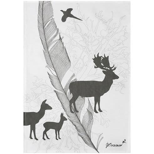 Rikki Tikki By Brorson Fallow Deer Tea Towel