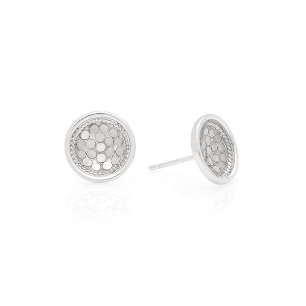 Anna Beck Silver Dish Stud Earrings