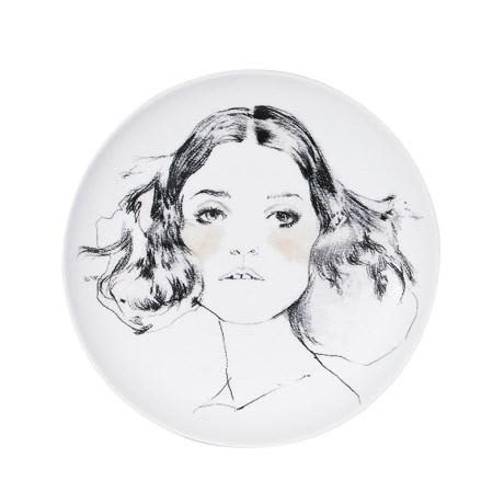 Homewood & Rose Girl Portrait Plate
