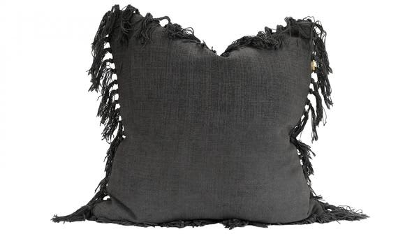 Homewood & Rose Charcoal Tassel Cushion