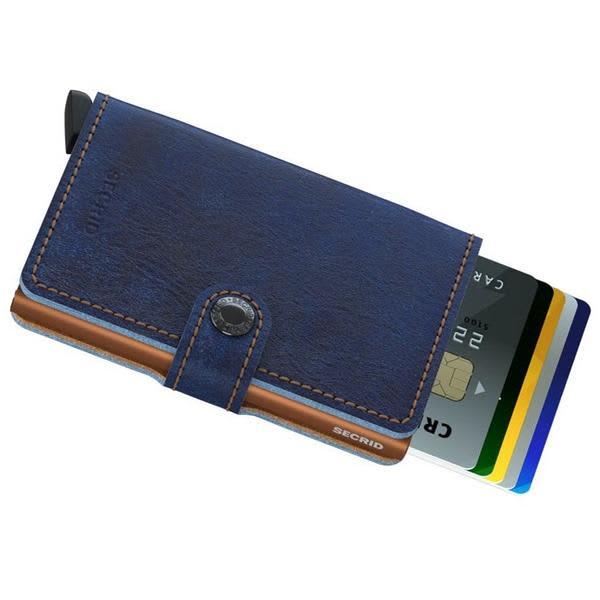Arnold & Co Indigo Leather Secrid Miniwallet
