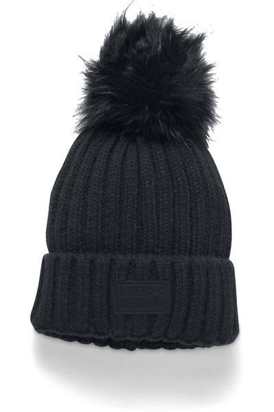5366044e4e975 Trouva  Black Snowcrest Pom Beanie