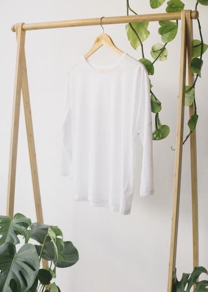 Stanley & Stella  White Ring-Spun Cotton Raglan Sleeve Shirt
