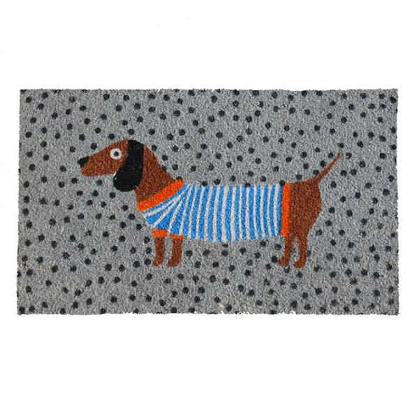 Bombay Duck The Beady Eyed Sausage Dog Coir Doormat