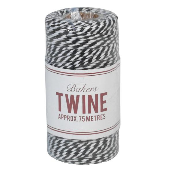 Hare and Home Black And White Striped Bakers Twine