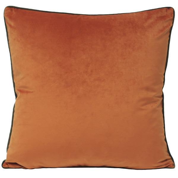 Riva Orange And Mocha Extra Large Pumpkin Piped Velvet Cushion